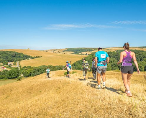 walkers in countryside